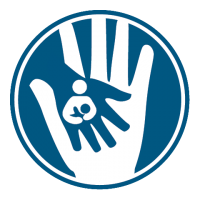 Child Custody Dark Blue Icon