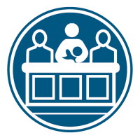 Jury Duty Dark Blue Icon