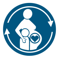 Maternity Care Dark Blue Icon